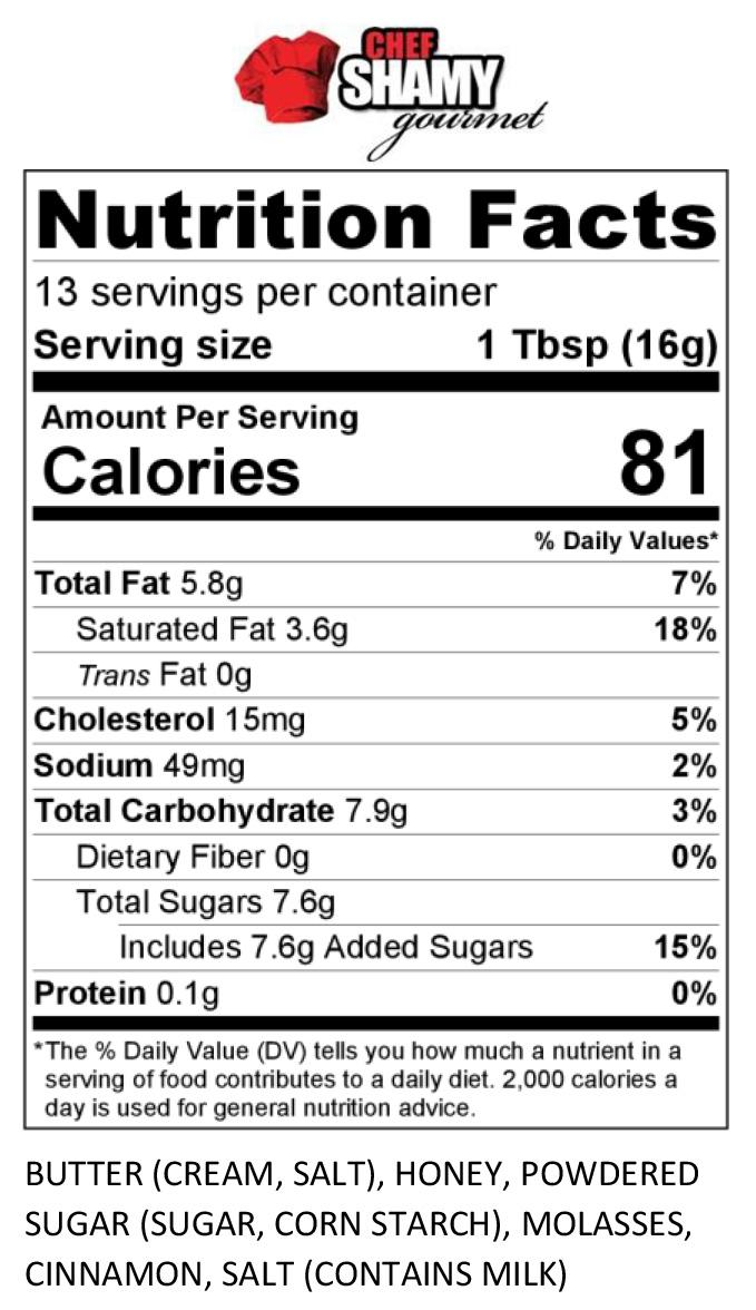 Cinnamon Honey Butter Nutrition Info