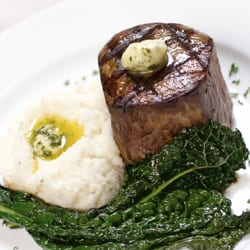 Pair your filet mignon with garlic mashed potatoes made with our butter.