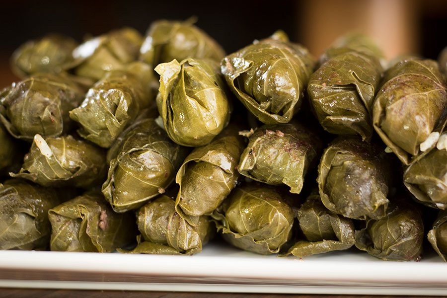 Stuffed Grape Leaves With Lamb Rice Chef Shamy