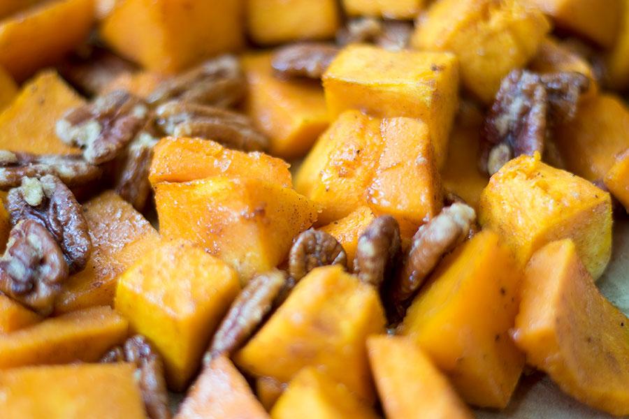 Cinnamon Pecan Roasted Butternut Squash