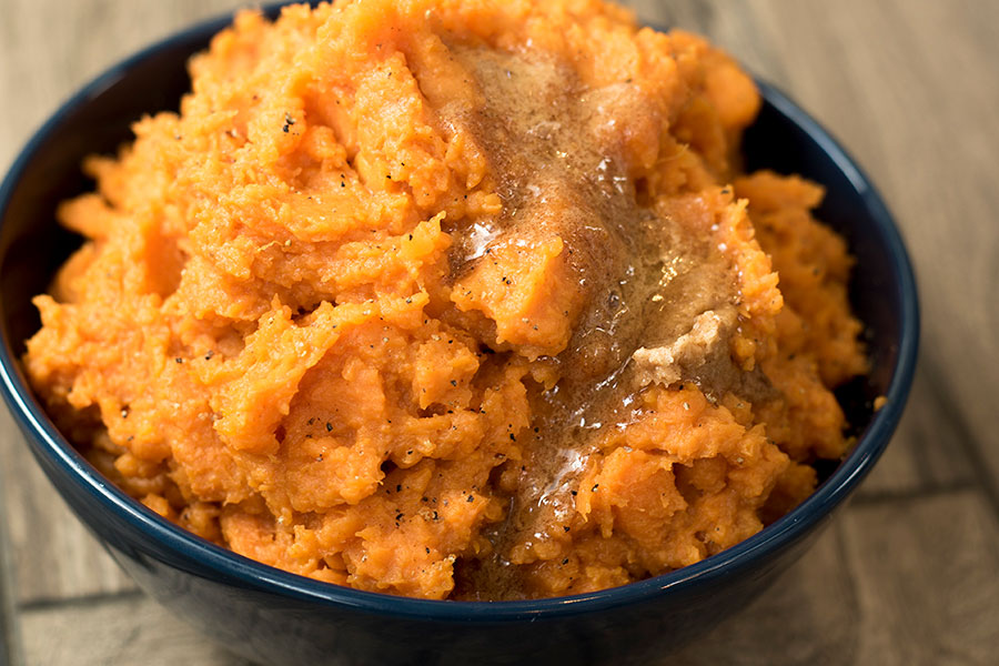 Cinnamon Mashed Sweet Potatoes