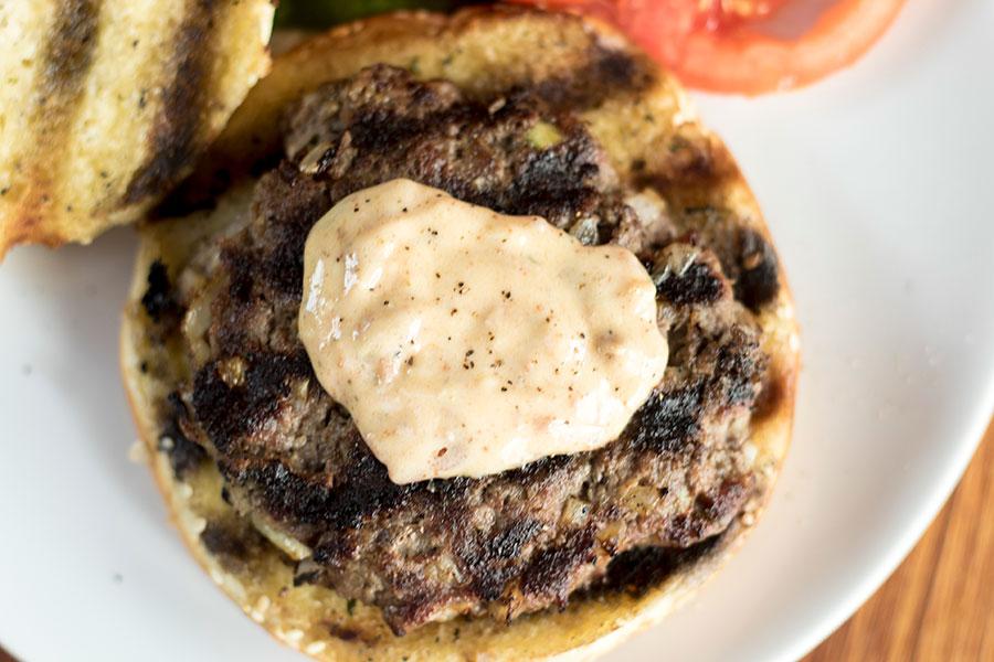 Garlic hamburger