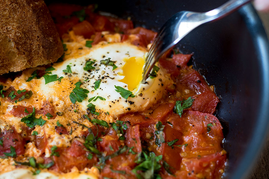 Garlic Herb Tomatoes and Eggs