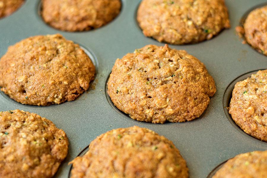 Healthy Oat Zucchini Muffins