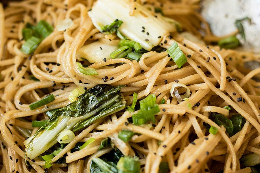 Sesame Ginger Garlic Rice Noodles