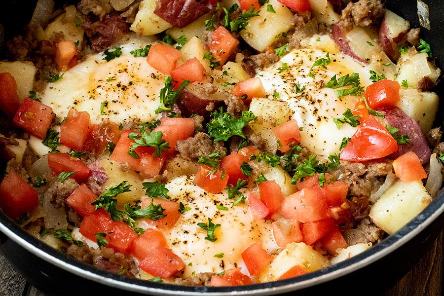 Potato Sausage Breakfast Skillet