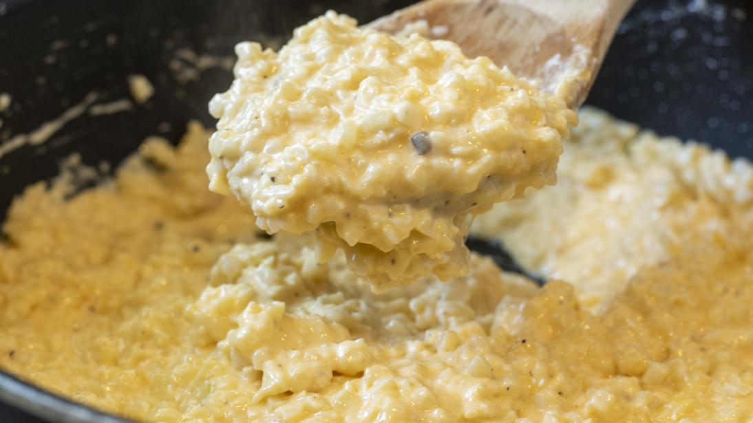 Black Truffle Cheesy Cauliflower Rice