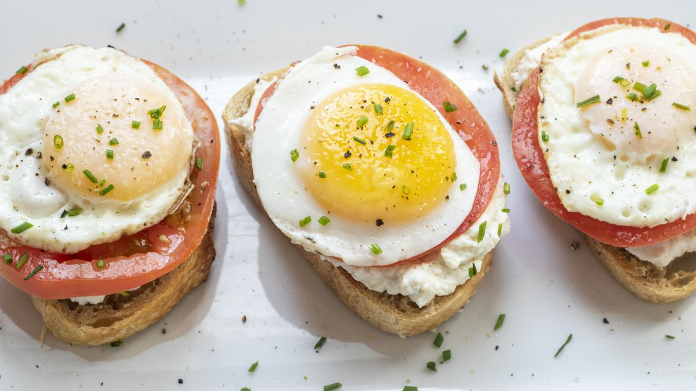Tomato Egg Ricotta Toast