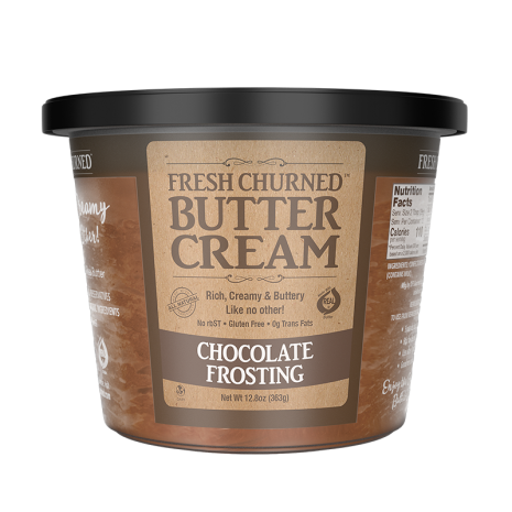 chocolate frosting front